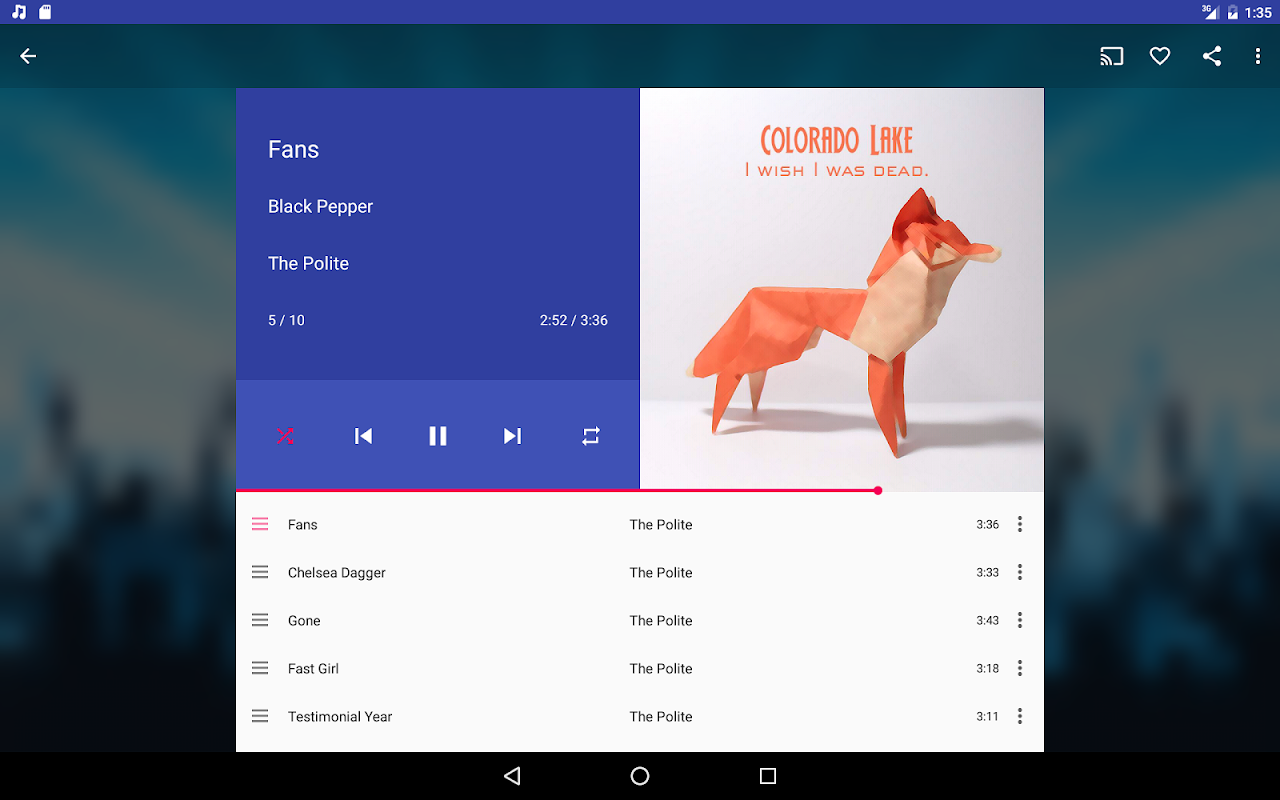 Shuttle+ Music Player 2.0.7-beta1 Screen 8