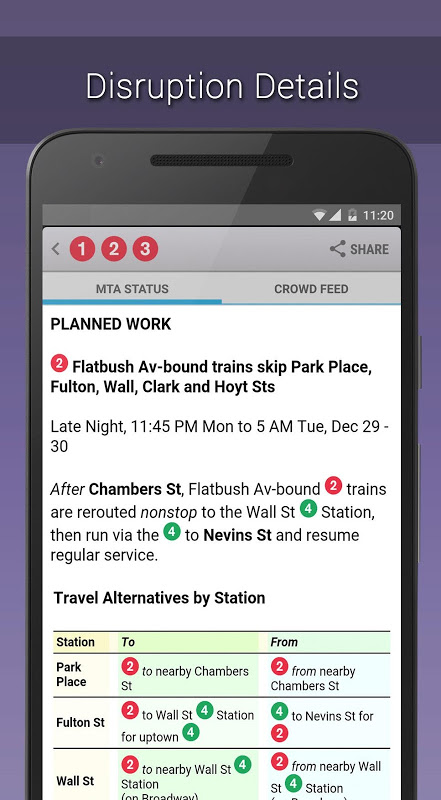 MyTransit NYC Subway, Bus, Rail (MTA) 3.8.3 Screen 4