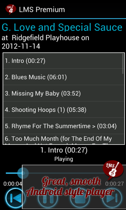 Android Live Music Streamer Screen 6