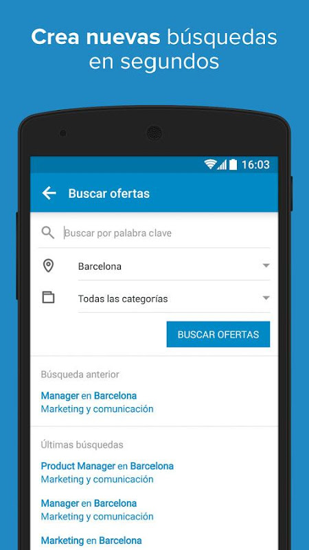 Android InfoJobs - Job Search Screen 7