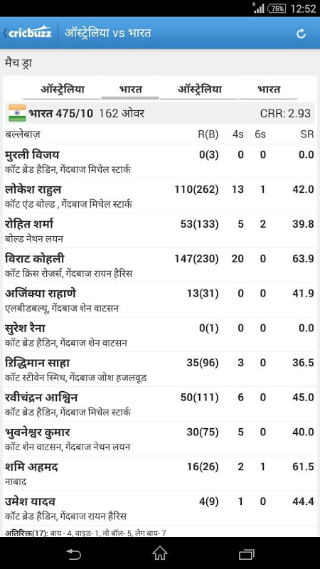 Cricbuzz - In Indian Languages 3.0 Screen 3