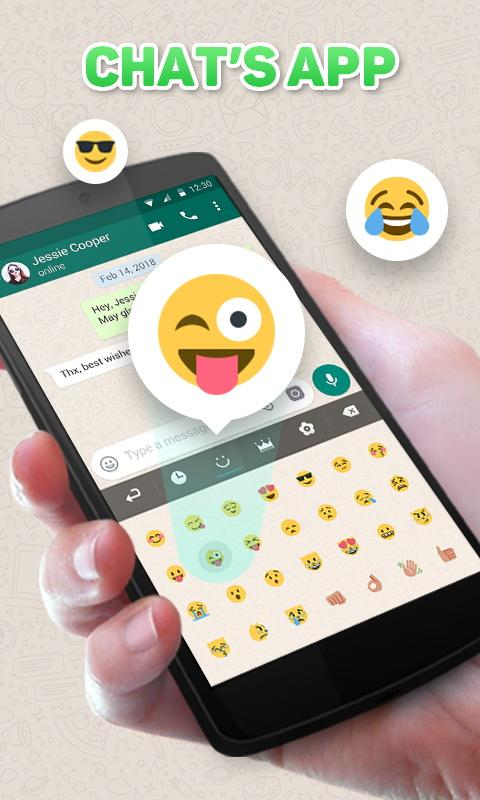 GO Keyboard Theme for Chat's App 4.5 Screen 2