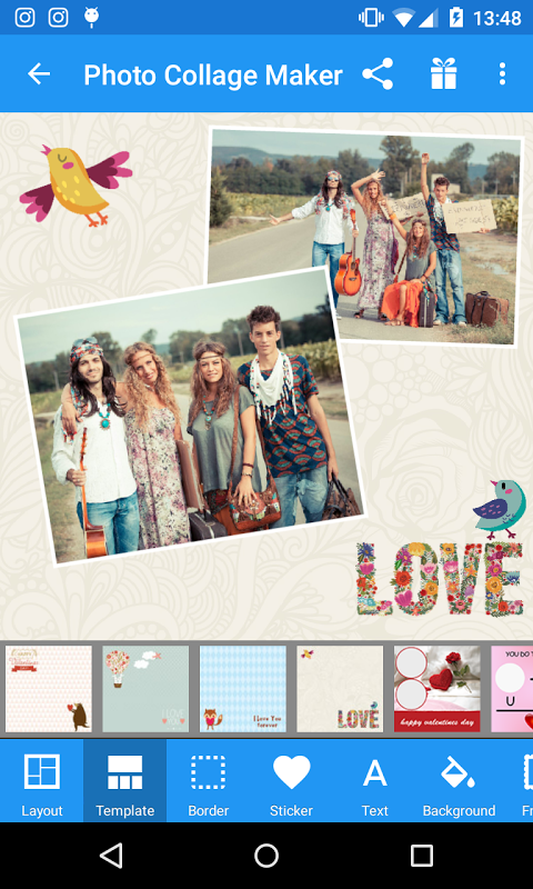 Android Photo Collage Maker Screen 1