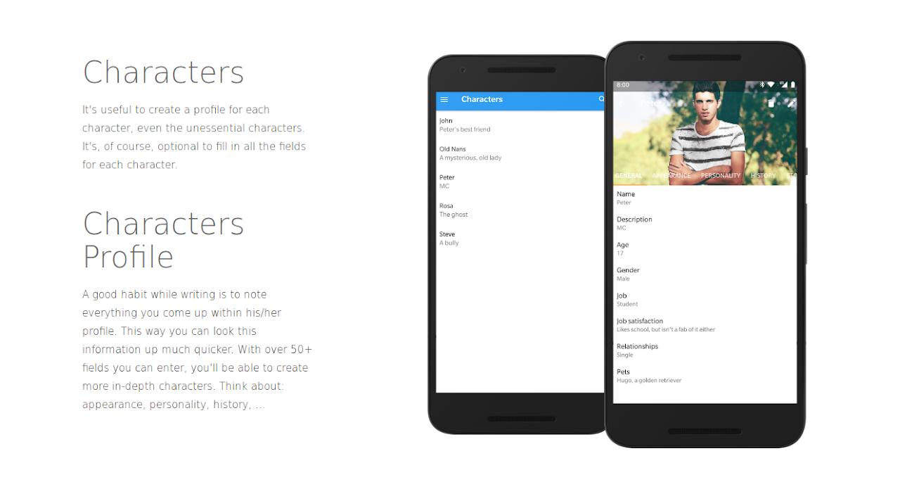 Writer Tools - Novel Planner, Tracker & Editor 2.8.1 Screen 1