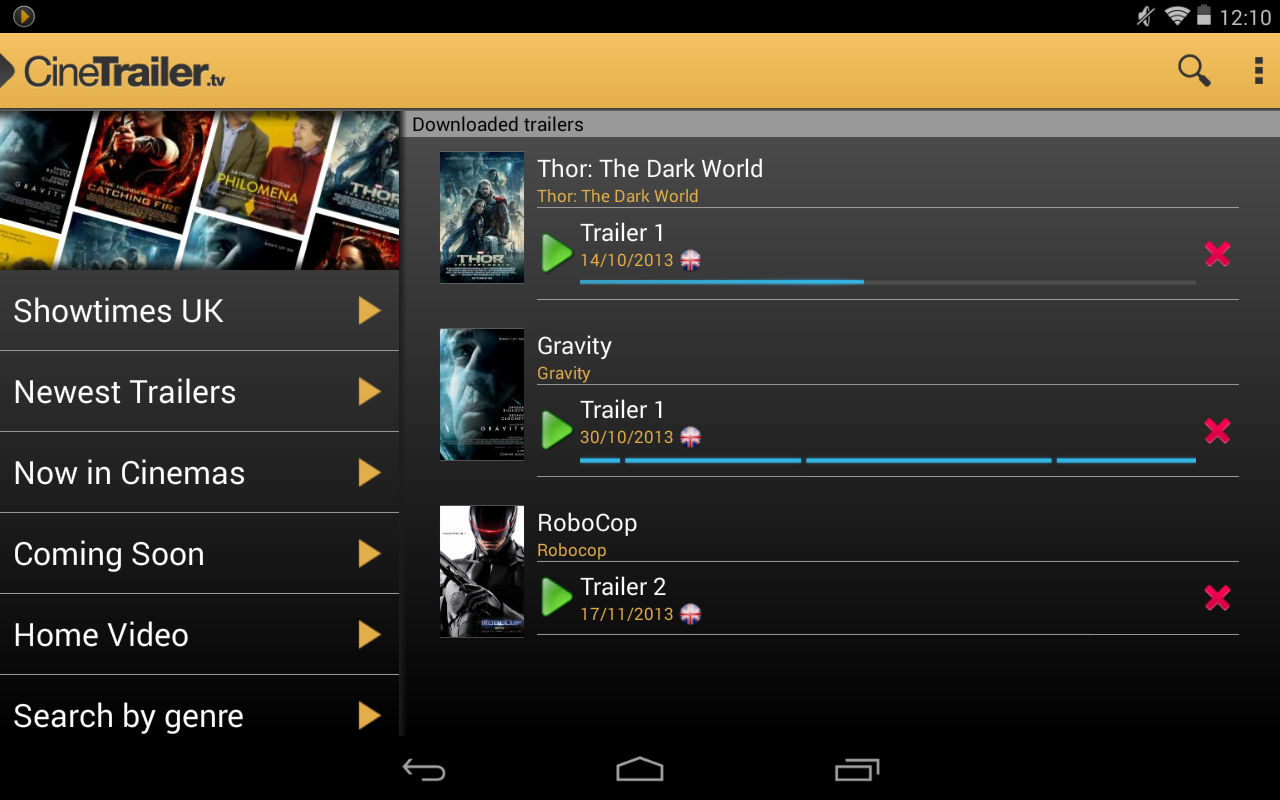 Android CineTrailer Cinema & Showtimes Screen 11