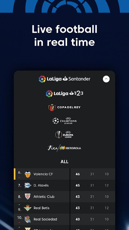 La Liga - Spanish Football League Official 7.3.8 Screen 10