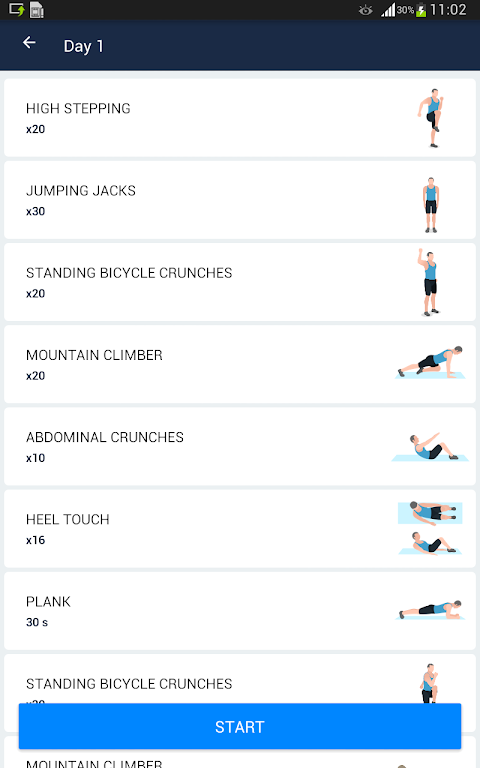 Six Pack in 30 Days - Abs Workout 1.0.10 Screen 8