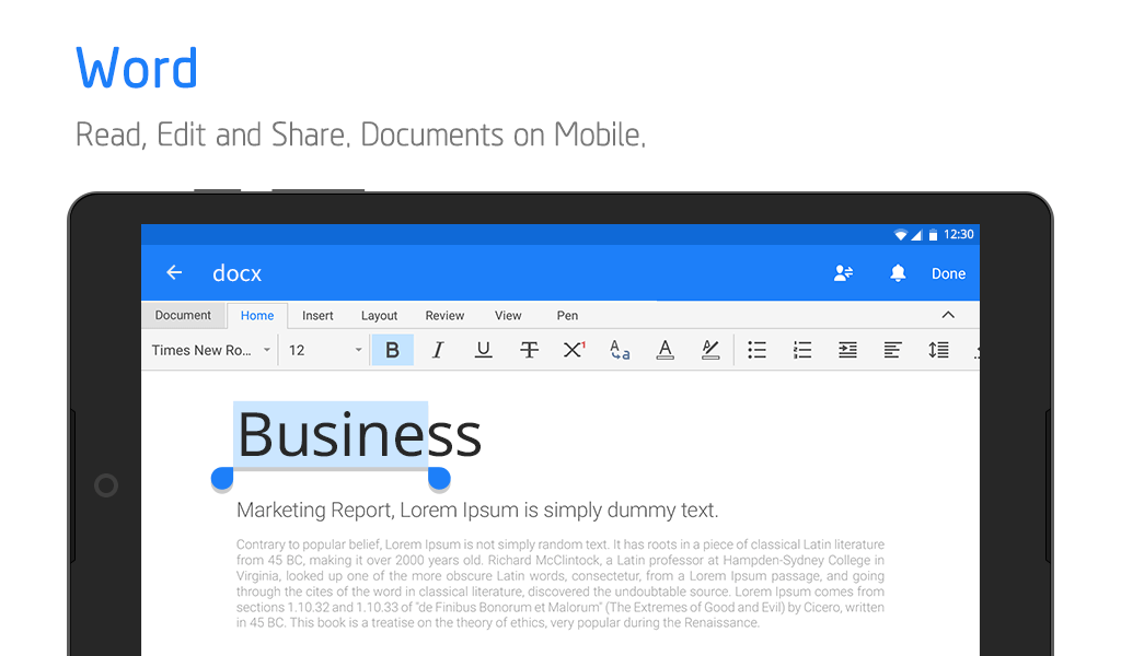 Android Polaris Office - Word, Docs, Sheets, Slide, PDF Screen 4