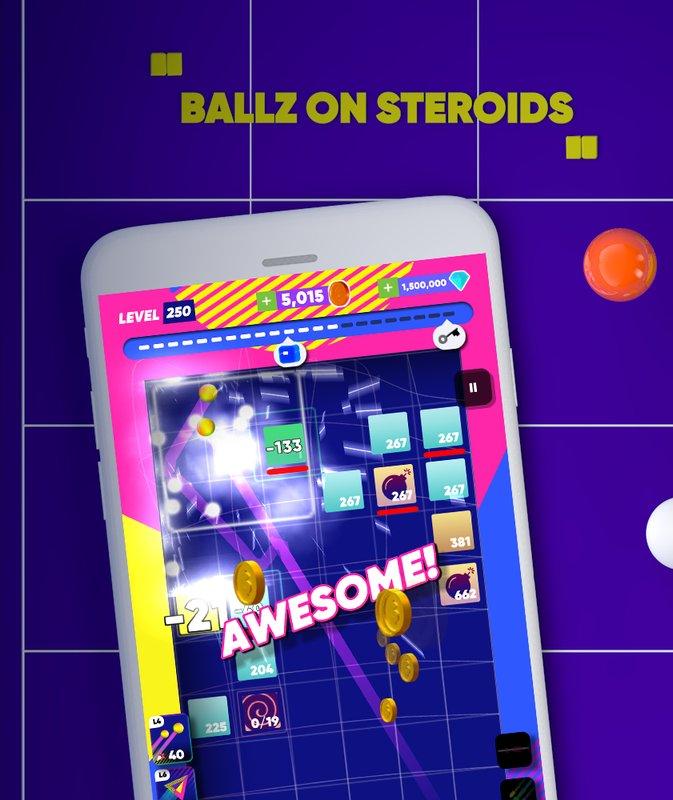 Android Super Brick Breaker Ball Screen 1