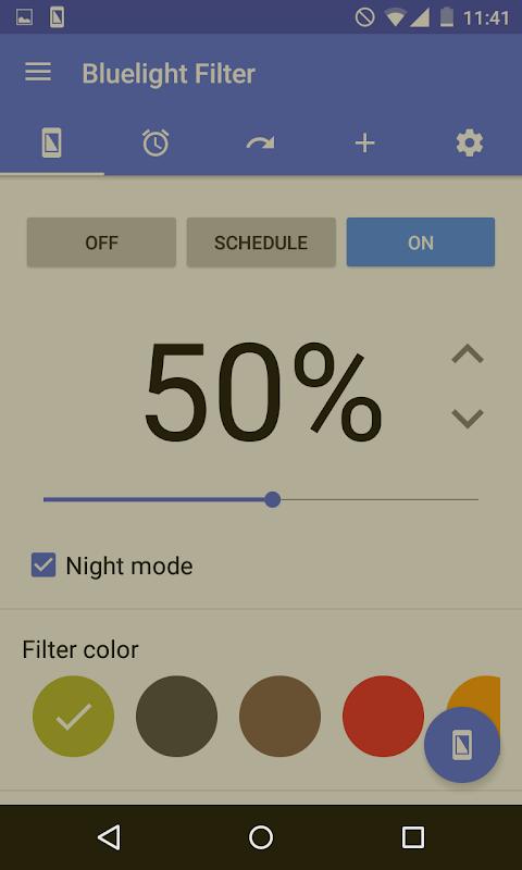 Bluelight Filter for Eye Care 2.9.24 Beta 3 Screen 1