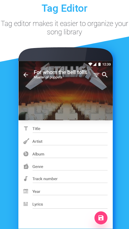 Android Muziko Music Player & Tag Edit Screen 2