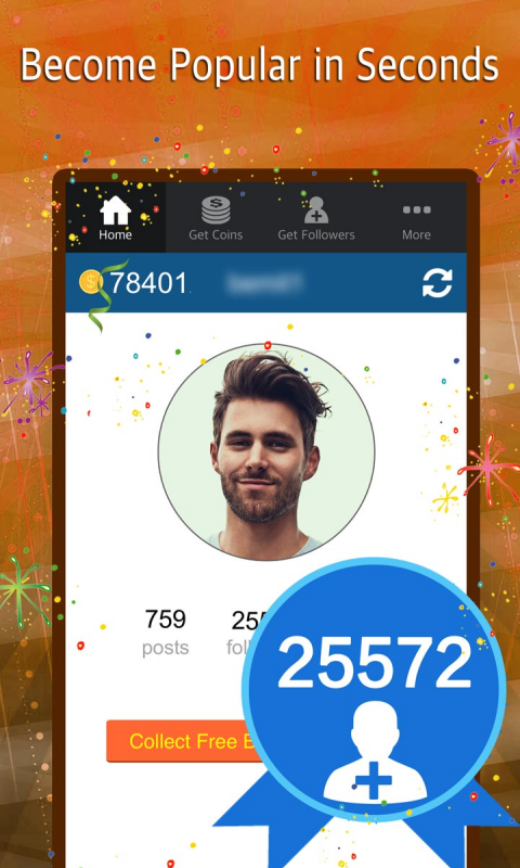 Android Turbo Followers for Instagram - get free insta followers on Instagram and 5000 IG follower app Screen 3
