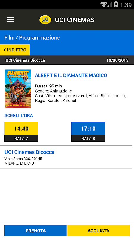 Android UCI CINEMAS ITALIA Screen 3
