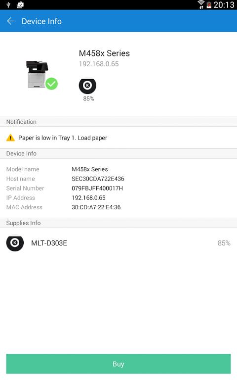 Samsung Mobile Print 4.07.011 Screen 12
