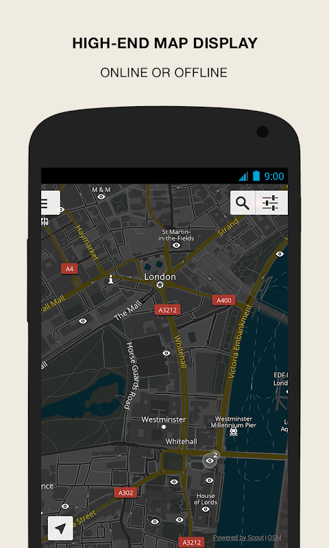 Android GPS Navigation & Maps - Scout Screen 5