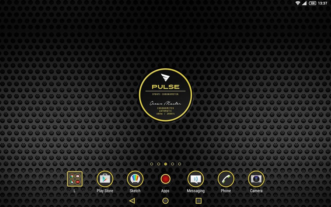 Android XPERIA™ Pulse Chrono Theme Screen 5