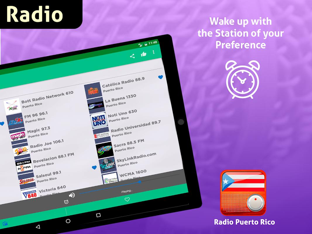Android Free Puerto Rico Radio AM FM Screen 9