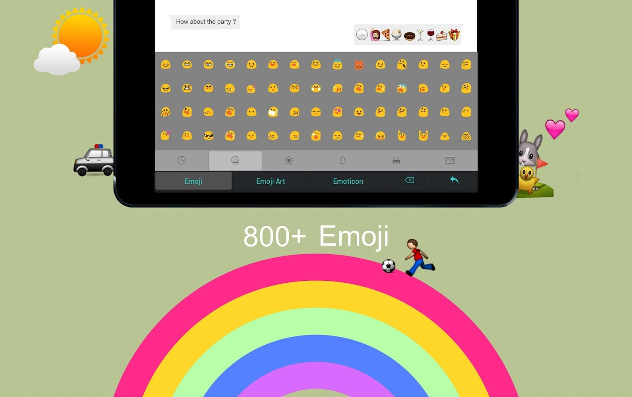 Android TouchPal Emoji - Color Smiley Screen 4