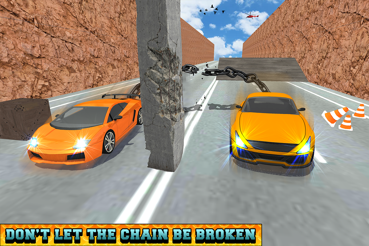 Android Chained Cars Racing Stunts Screen 5