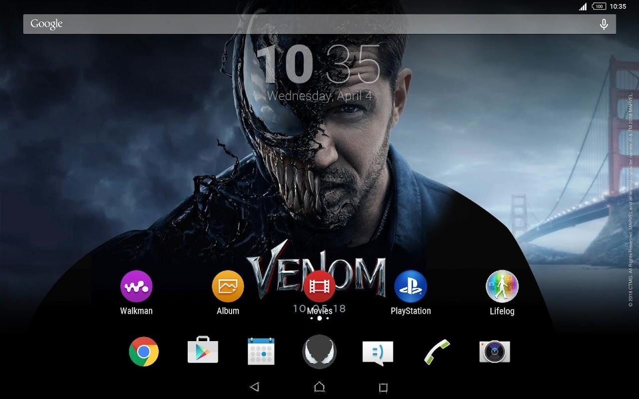 Android Xperia™ Venom Theme Screen 3