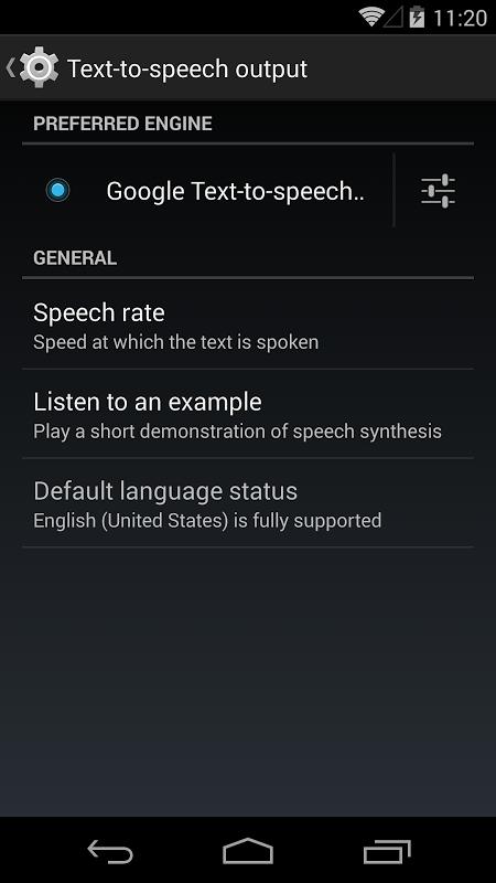 Google Text-to-speech Engine 3.8.16 Screen 8