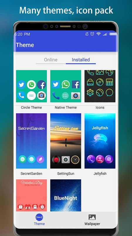Android Note 8 Launcher - Galaxy Note8 launcher, theme Screen 2