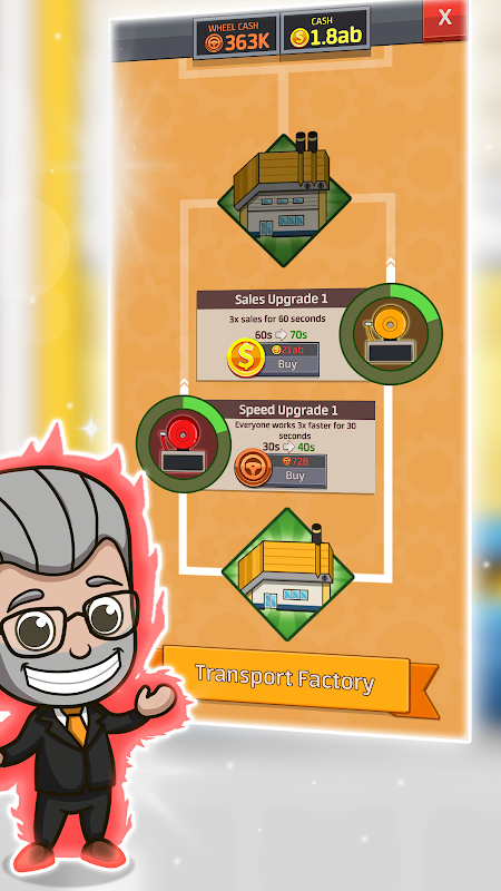 Android Idle Factory Tycoon Screen 6