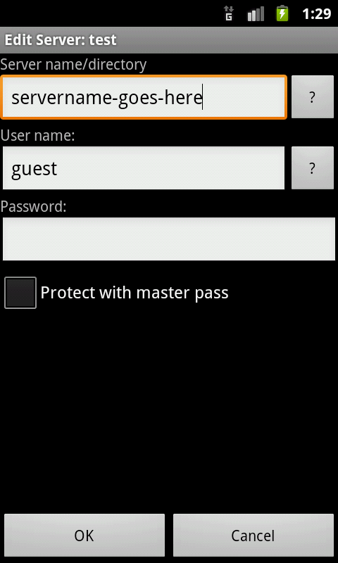 Android LAN plugin for Total Commander Screen 1