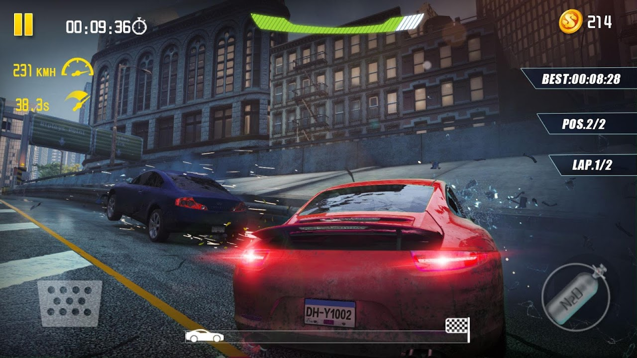 Android 4-Wheel City Drifting Screen 1