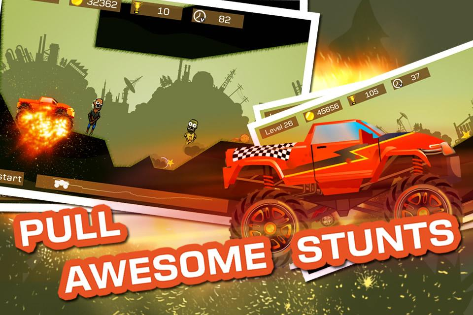 Mad Truck 2 -- monster truck hit zombies 3.71.9 Screen 2