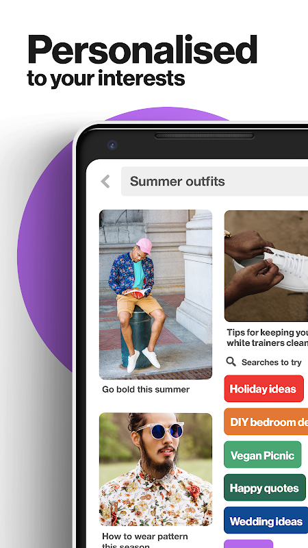 Android Pinterest: Creative Ideas & Lifestyle Inspiration Screen 2