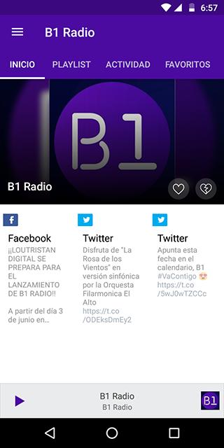 Android B1 Radio - Live Radio Screen 1