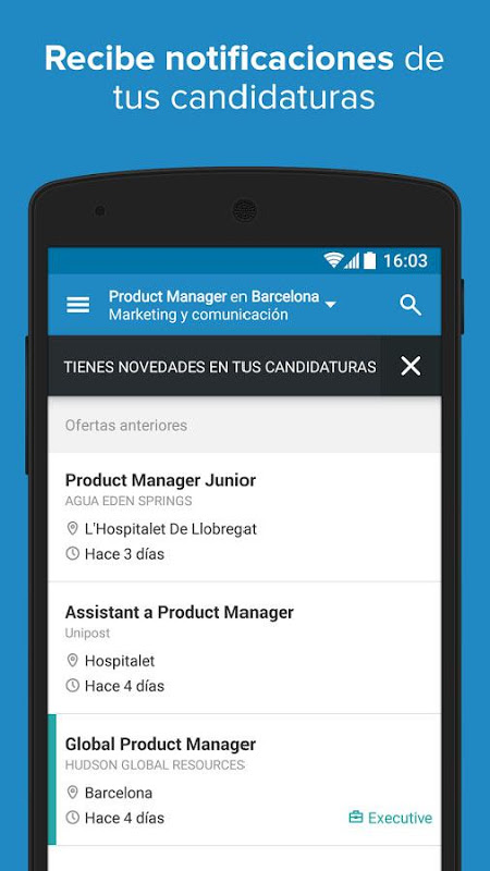 Android InfoJobs - Job Search Screen 5