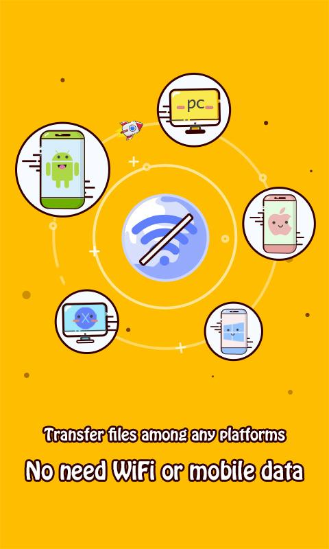 Android Zapya (Connect,Share,Transfer) Screen 1