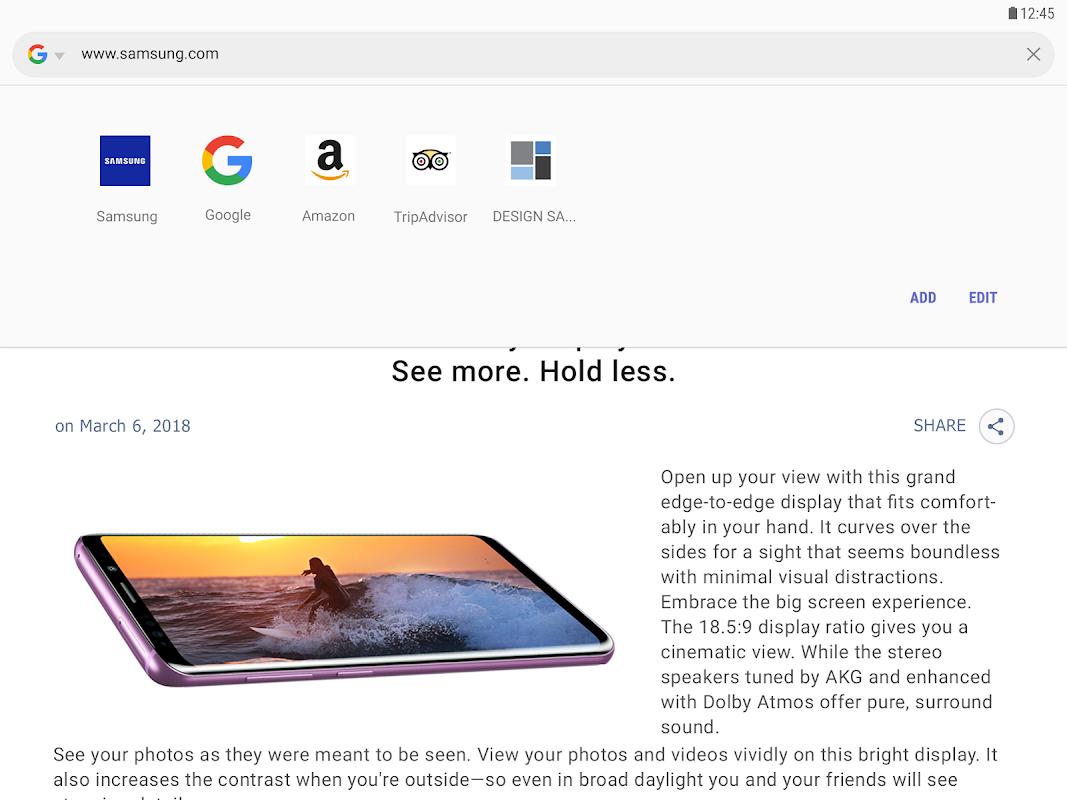 Samsung Internet Browser 9.0.00.44 Screen 8
