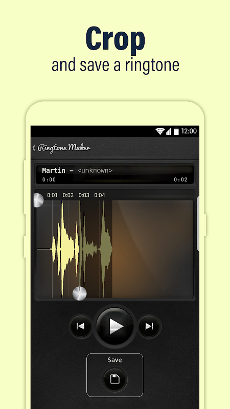Android Call Ringtone Maker – MP3 & Music Cutter Screen 1
