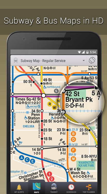 MyTransit NYC Subway, Bus, Rail (MTA) 3.8.3 Screen 1