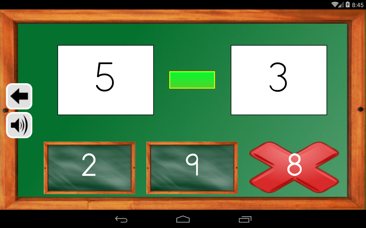 Android Maths Trainer Screen 11