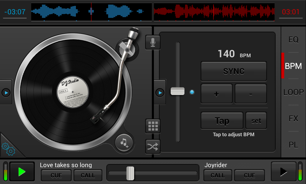 Android DJStudio Screen 2