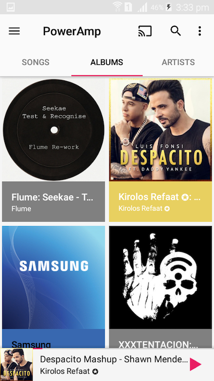 Android PowerAmp Music Player Screen 4
