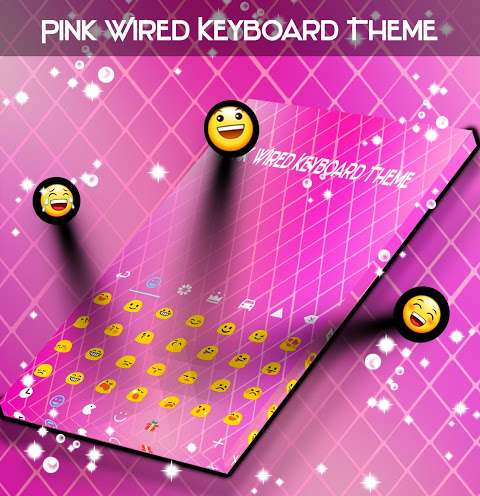 Android Pink Wired Keyboard Theme Screen 2