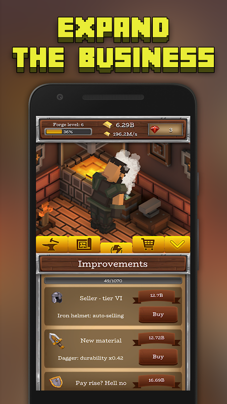 Android ForgeCraft - Idle Tycoon. Blacksmith Business Screen 3