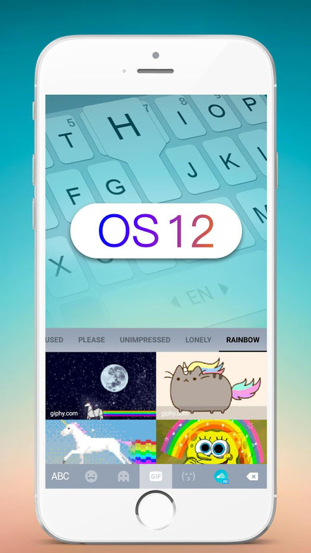 New OS12 Keyborad - OS keyboard Theme 6.0 Screen 3