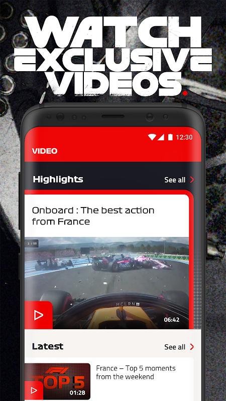 Android Formula 1® Screen 3