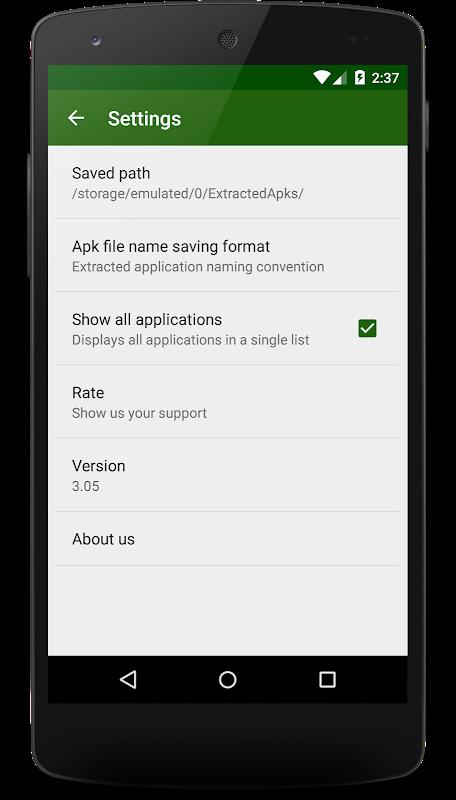 Apk Extractor 4.2.9 Screen 1