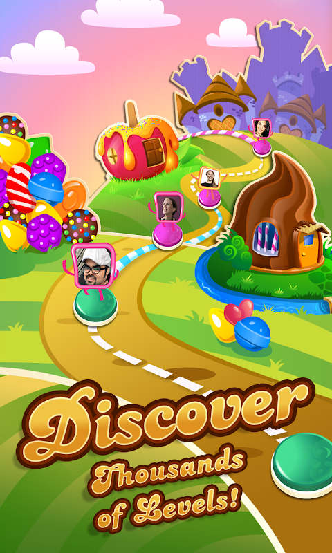 Android Candy Crush Saga Screen 1