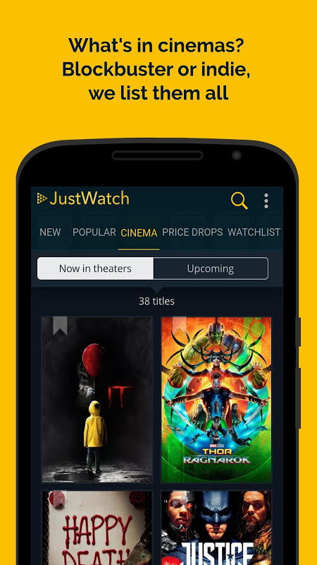 JustWatch - Search Engine for Streaming and Cinema 0.24.58 Screen 1