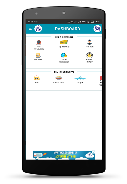 IRCTC Rail Connect 2.1.39 Screen 1