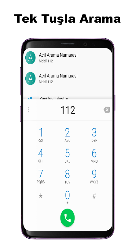 Android Acil Önemli Numaralar Screen 3