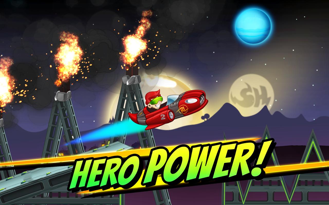 Android Superheroes Car Racing Screen 5
